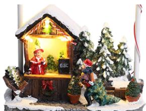 Casita de navidad para decorar. Vendedora de navidad