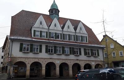Gönninger Rathaus - Ayuntamiento de Gönningen- Museo del Comercio de Semoillas- Sammenhandelsmuseum Gönningen